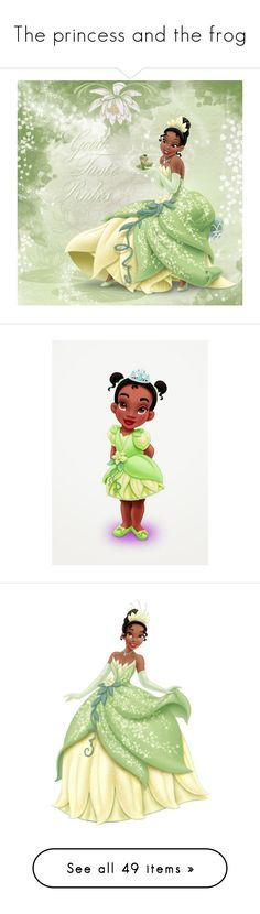 """""""The princess and the frog"""" by asia-12 ❤ liked on Polyvore featuring disney, sketch, filler, characters, tiana, princess and the frog, decor, pictures, home and children's room"""