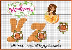 Monograma laranjinha by Dinha ponto cruz