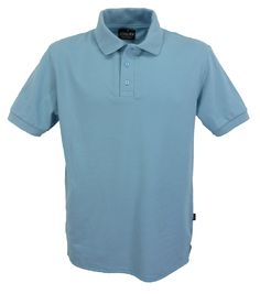 Light blue polo shirt. men's style J501.