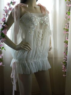 Sold out....Inspiration for new colors?  Soft Pearl  and Light Pink Ribbon Bridal by InnoviasIntimates, $50.00