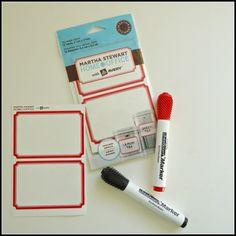 Bright Idea:  Dry Erase Labels from Martha Stewart
