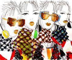 « Prada, real quick ✏✏ #fashionillustration #illustration #prada #pradaspring #spring2016 »