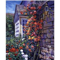 Trademark Art Magnificent Climbing Roses Canvas Wall Art by David Lloyd Glover, Size: 35 x 47, Multicolor