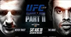 The UFC is bringing their show to Sacramento the home of Team Alpha Male for UFC 177. It feels like months have passed since the last pay-per-view after the cancellation of UFC 176 due to injury. The injury bug has effected the company a lot this year and it even took a toll on this card as well. Let's face it UFC 177 isn't the best card the promotion has put on this year but it's still a damn good card. Read more here http://rsrgentertainment.com/ufc-177-dillashaw-vs-barao-2-preview/
