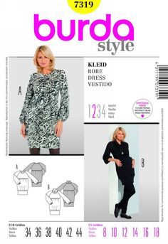 Burda 7319 misses dress Miss Dress, Diy And Crafts, Sewing Patterns, Shirts, Handmade, Clothes, Dresses, Style, Youtube