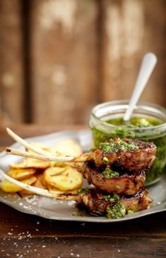 NOMU is an original South African food and lifestyle concept by Tracy Foulkes. Lamb Shanks, Lamb Chops, Lamb Recipes, Side Recipes, South African Recipes, Ethnic Recipes, Rustic Potatoes, Lamb Skewers, Lamb Ribs