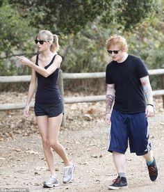 Taylor Swift and Ed Sheeran hiking. I think Taylor may be lost and I don't think Ed likes hiking :)