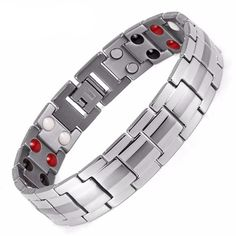 Men's Fashion Healing FIR Magnetic Titanium Bio Energy Bracelet - Bloo... https://prolyfstyles.com/products/mens-fashion-healing-fir-magnetic-titanium-bio-energy-bracelet-blood-pressure-accessory-silver-bracelet