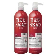 Tigi Bed Head. Bring red and fire to give balance in to my watery bathroom in the Fame bagua