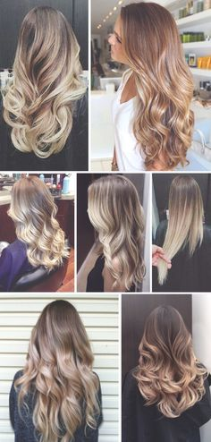 Light brown to light blonde ombre hair inspiration