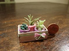 dollhouse miniatures. wooden crate in by bagusitalyminiatures
