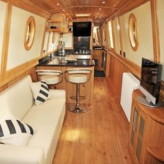 Boat Plans: What You Must Know Before Choosing One Canal Boat Interior, Sailboat Interior, Narrowboat Interiors, Cabin Interiors, Sailboat Restoration, Flat Bottom Boats, Build Your Own Boat, Diy Boat, Floating House