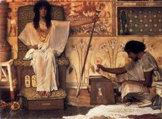 """1800s Week!  punosrey submitted:  """"""""Joseph, Overseer Of Pharaoh's Graneries""""  Sir Lawrence Alma-Tadema  Date: 1874  Style: Romanticism  Genre: genre painting  Media: oil, canvas  Dimensions: 80 x 115.6 cm  Location: Private Collection  """""""