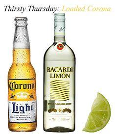 Corona+Bacardi Limon=Loaded Corona...so refreshing!!