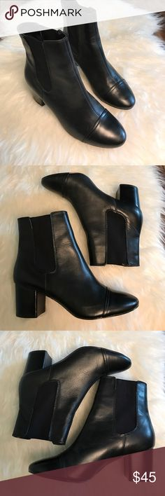GAP Jodphur boot Sleek GAP boots. Gorgeous black leather body. Elastic on either side for easy removal. Excellent condition. Heel height approximately 2 1/4, tad over. GAP Shoes Ankle Boots & Booties