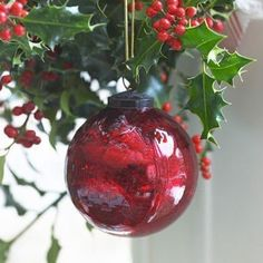 Have you got enough baubles for your tree? Our large hand-blown glass baubles are lustrous and make the perfect hanging accompaniment to wreaths, bundles of holly or mistletoe - or simply hung up together. Cottage Christmas, Merry Christmas To All, The Night Before Christmas, Green Christmas, Christmas Baubles, Christmas Wishes, Christmas Colors, All Things Christmas, Christmas Decorations