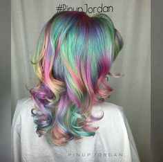 Amazing rainbow Opal hair