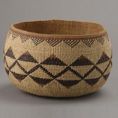 Hupa Indian Basket
