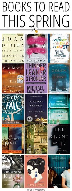 A list of great books to read! Spring 2015 edition.