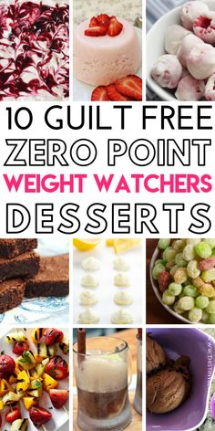 # Here are zero point weight watchers desserts from the ultimate collection of Zero Point Weight Watchers Meals, Snacks and desserts. From apps to main meals and even desserts these zero point weight watchers meal ideas are guaranteed to kee Weight Watchers Desserts, Ww Desserts, Healthy Desserts, Plats Weight Watchers, Weight Loss, Weight Watchers Tips, Losing Weight, Weigh Watchers, Health Desserts