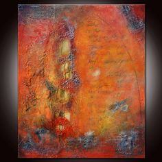Textured Red Painting Art Panting Abstract Painting door Andrada, $900.00