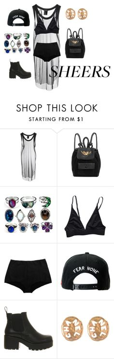 """""""translucid"""" by mellow-cotton ❤ liked on Polyvore featuring Ann Demeulemeester, Rihanna For River Island, ELSE, NOE Undergarments, Trukfit, Vagabond, Chanel, TrickyTrend, contest and Sheers"""