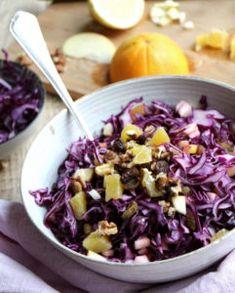 Rotkohlsalat süß - mmmh - mit Orange, Apfel und Walnussbruch