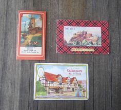 3 Charming Antique Needle Books / Shakespeare by MintysMercantile, $21.99