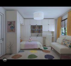 Girl room, modern interior design