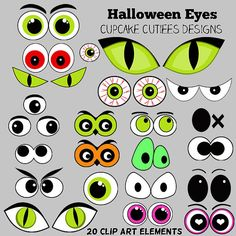 Trick or Sweet Halloween  Digital Clipart by cupcakecutiees, $5.00