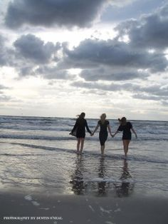 I hope my three daughters bond will forever be strong...beautiful photo..