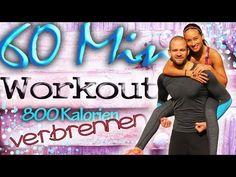 Workout für Zuhause - 60 Minuten - Anfänger & Fortgeschrittene - Mit Warm up / Cool down - YouTube