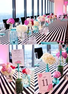 Black And white linen with colour pops