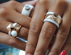 rosé & keramiek #melano #jewelry #white #ceramic #ring #melanotwisted