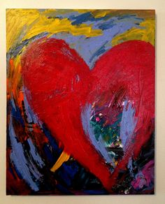 Heart Painting All you need is love Original  16 x 20 on Etsy, $250.00