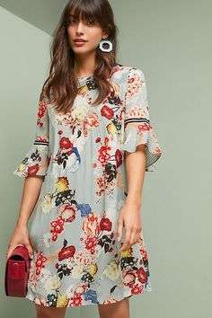Anthropologie Vineet Bahl Fleur Tunic Dress Size XS Has a tiny pen mark in front Anthropologie Dresses Bohemian Mode, 50 Fashion, Boho Outfits, Dress Collection, Dress To Impress, Casual, Floral Tops, Clothes, Anthropologie Dresses