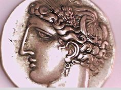 Greece Crete Knossos Stater God Apollo and Labyrinth coin Silver plated Repro
