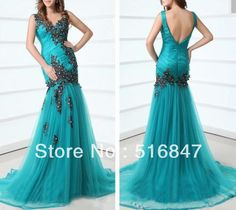 Aliexpress.com : Buy Hot sale New Style Long Blue Beading Tulle Spaghetti Strap Sleeveless Party Dress Evening Prom Dresses Custom Size Free Shipping from Reliable custome suppliers on High Quality dress's store $149.00