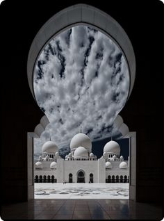mistymorrning:  view through a mosque window…