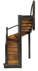"Mission Stairs Architectural 3D Wooden Model 16"" Staircase Authentic Models New"