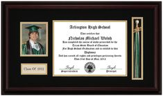 frames for graduation pictures | Picture Tassel Diploma Frame: Everything Graduation.com