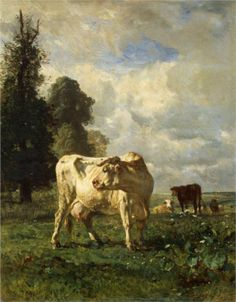 Constant Troyon (French 1810–1865) [Barbizon School] Cows in the Field, 1852. Oil on canvas, 93 x 75 cm. Hermitage, St. Petersburg.