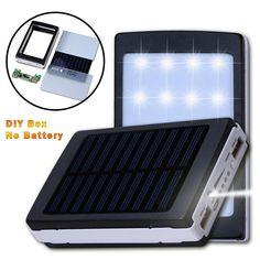Power Bank Solar with Dual USB (DIY BOX)