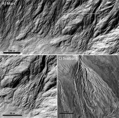 G.A.B.I.E.: Rastros de agua reciente en la superficie de Marte...