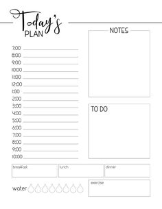 Free Printable Daily Planner Template – Paper Trail Design – Office organization at work To Do Planner, Daily Planner Pages, School Planner, Study Planner, Weekly Planner, Life Planner, Blog Planner, Daily Work Planner, Goals Planner