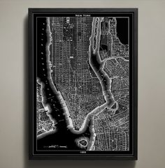 There's no mistaking what city is depicted here. Those who love NYC will enjoy discovering it block by block. Printed on archival paper that will last a lifetime, this reproduction of an 1855 New York City map will take you back in time and add character to any wall in your home or office. #new-york-map-print