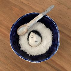 So love this!! Buried under the snow  salt dish set. royal blue door GusandRami