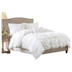Harlow 4 Piece Comforter Set in White i like the bed