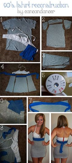 DIY cute dress from an old t-shirt... I love  all the tutorials on her blog!