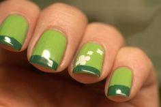 Creative Shamrock Nail Art | See more at http://www.nailsss.com/colorful-nail-designs/2/